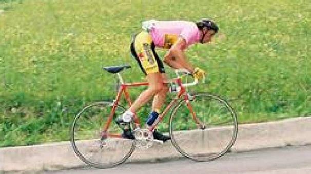 Franco Chioccioli in maglia rosa al Giro 1991