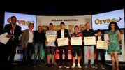 Carlino d'Oro 2016, i premiati di Ascoli e Fermo: Riccardo Orsolini, Simone Bruno, Alberto Luciani, Matteo Poli e Domenico Natalini (foto Corelli)