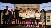 Carlino d'Oro 2016, i premiati di Rovigo, Bologna e Imola: Manuel Pagnoni, Lorenzo Bonori, Gabriele Fenara, Diego Cotti e Michele Spinelli (foto Corelli)