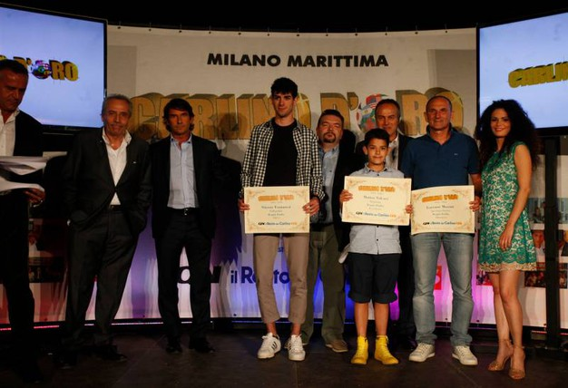 Carlino d'Oro 2016, i giovani premiati di Rovigo e Reggio: Simone Fontanesi, Matteo Valcavi e Lorenzo Mossini (foto Corelli)