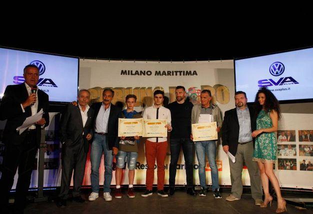 Carlino d'Oro 2016, i premiati di Forli- Cesena: Andrea Zoffoli, Simone Pippi, Enrico Fabbri, Giacomo Colombo e Giovanni Fontana (foto Corelli)