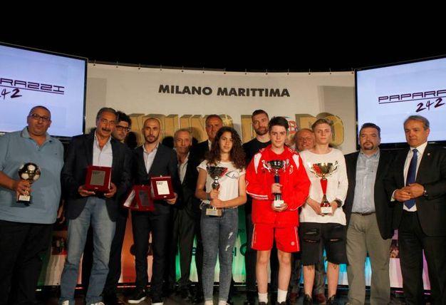 Carlino d'Oro 2016, i vincitori assoluti: Diego Santaniello, Nicolas Rango, Elena Prinzivalli e Luca Mercuriali (foto Corelli)