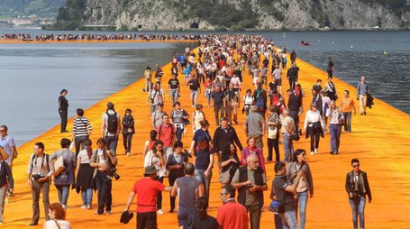 THE FLOATING PIERS APERTURA.sulzano(Bs) 18 giugno 2016  AG ALDO LIVERANI SAS