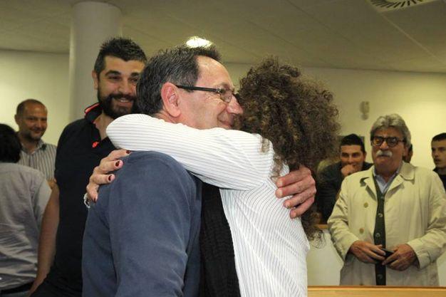 San Benedetto, il nuovo sindaco Piunti festeggia i risultati del ballottaggio (Foto Sgattoni)