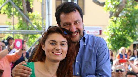 Susanna Ceccardi e Matteo Salvini