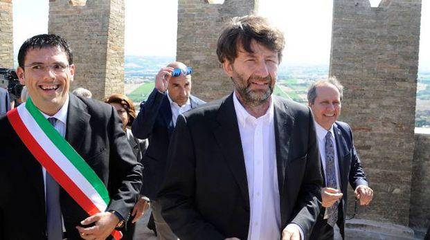 Il ministro Dario Franceschini inaugura la Torre del Borgo (foto Calavita)