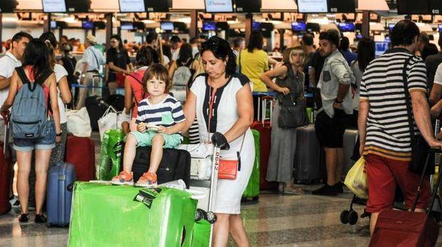 Viaggiatori a Malpensa