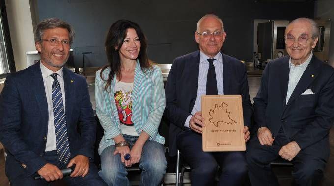 Enrico Dandolo, Beba Marsano, Mauro Parolini e Gualtiero Marchesi