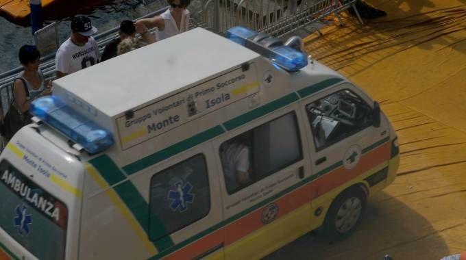 Ambulanza in azione a Floating Piers