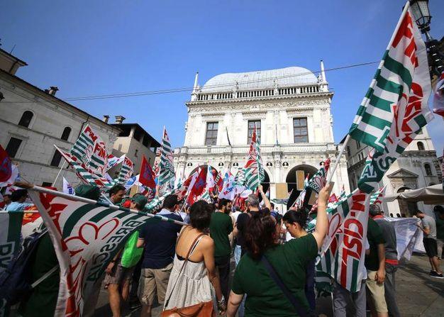 Manifestazione a Brescia