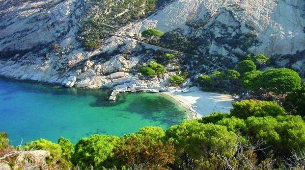 Uno scorcio dell'isola di Montecristo