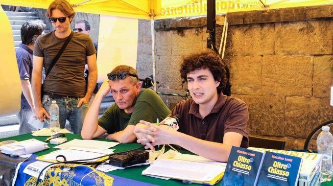 """Da sinistra Baciocchi, Lensi e Buzzegoli dell'associazione radicale """"Andrea Tamburi"""""""