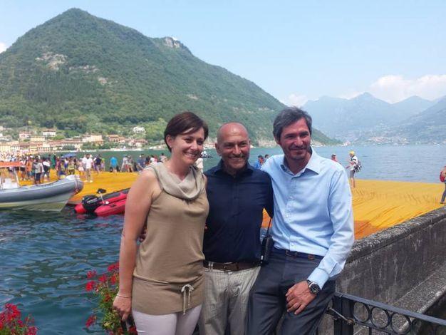 Il sindaco di Sulzano e quello di Montisola insieme al responsabile della sicurezza