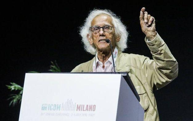 Christo a Milano durante Icom, la conferenza mondiale dei musei