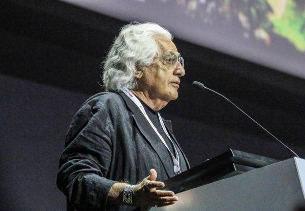 Il critico e storico dell'arte Germano Celant a Milano durante Icom, la conferenza mondiale dei musei