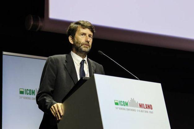 Dario Franceschini a Milano durante Icom, la conferenza mondiale dei musei