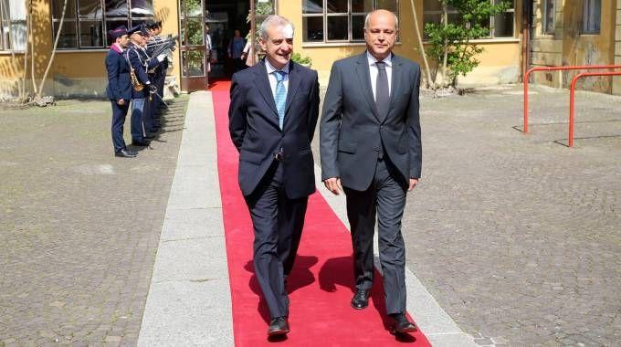 Il prefetto Michele Tortora e il questore Antonio Sbordone