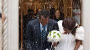 Emmanuel Chidi Namdi con la moglie Chimiary al matrimonio (foto Zeppilli)