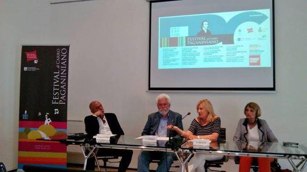 Presentazione in Fondazione Carispezia: da sinistra Fiorentini, Ferrero, Belsito e Amari