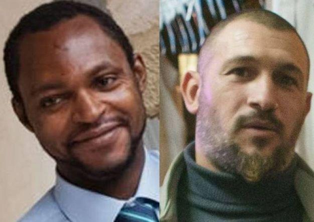 Nigeriano ucciso a Fermo: Emmanuel Chidi Namdi e Amedeo Mancini (Foto Zeppilli)