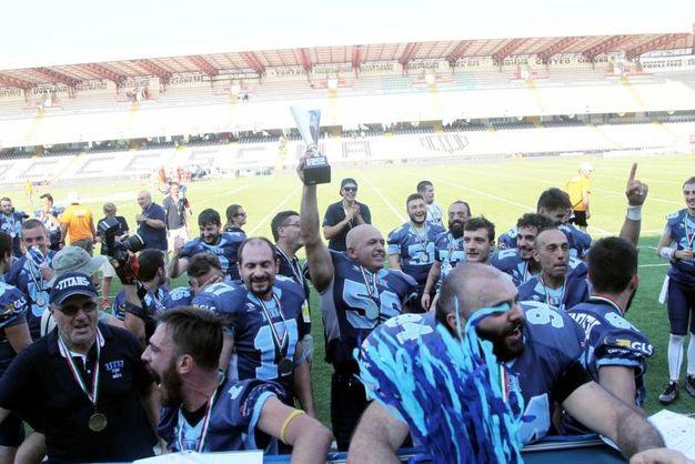 Cesena, i Ranocchi Uta festeggiano la promozione in A1 (Foto Ravaglia)