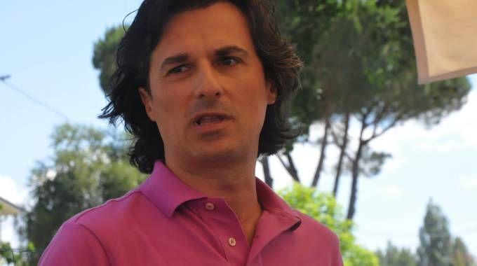 Matteo Garzella durante l'incontro (Vincenti)