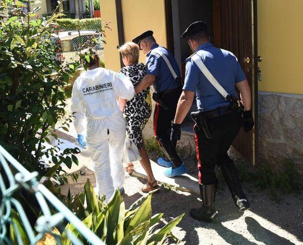 Scientifica e carabinieri in via Fiume a Laveno Mombello