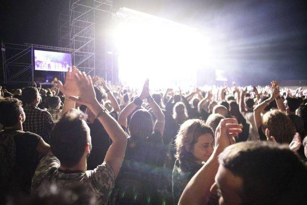 Il concerto dei Deep Purple al parco della Pace a Servigliano, il pubblico (foto Zeppilli)
