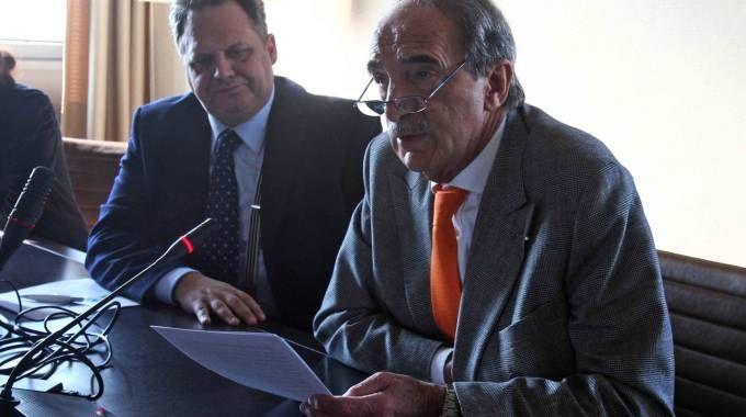 Il segretario generale Renato Mattioni  e il presidente Carlo Edoardo Valli
