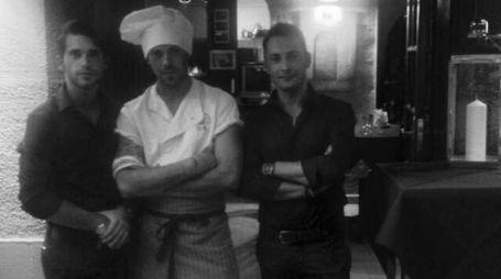 Al centro lo chef Marco Del Bergiolo