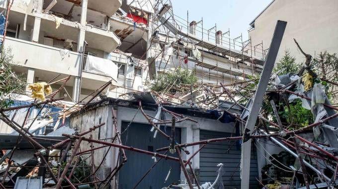 Il palazzo distrutto
