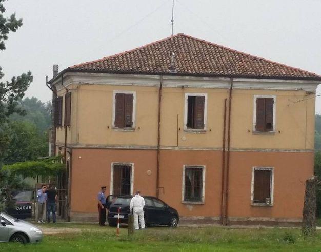 L'abitazione di Fossanova, in via Ravenna, teatro della tragedia