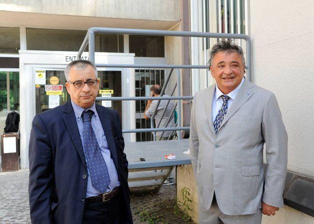 Gli avvocati Domenico Basile e Gabriele Cofanelli (foto Calavita)