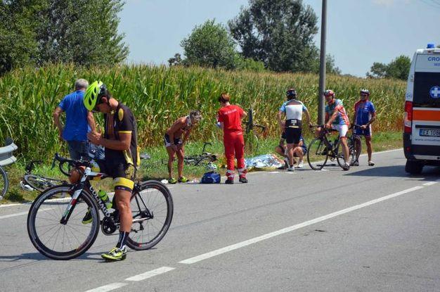 I ciclisti sotto choc