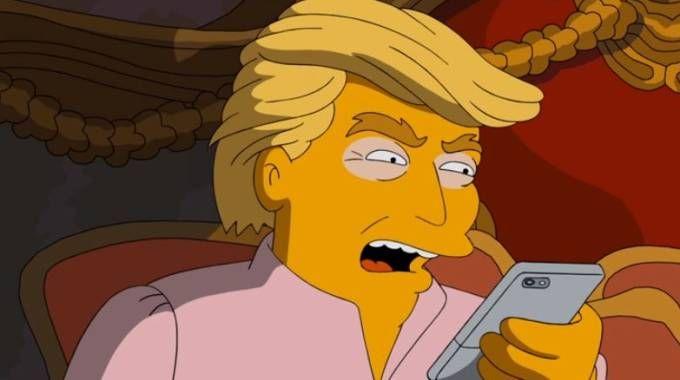 Donald Trump in versione Simpson