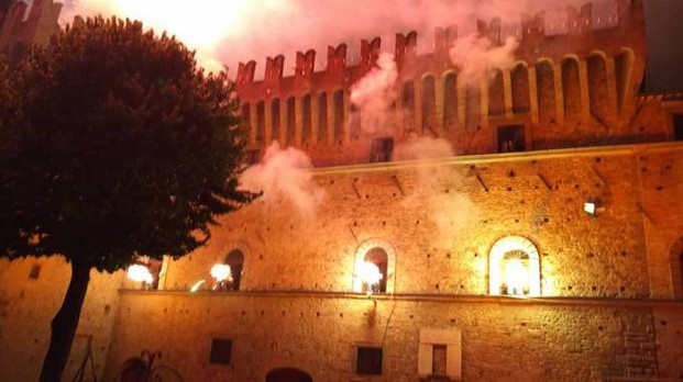 Palio dei Conti Oliva, l'incendio del castello