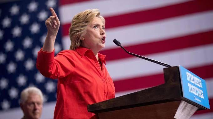 La candidata dei democratici Hillary Clinton