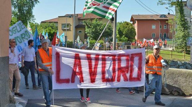 La protesta a Merone