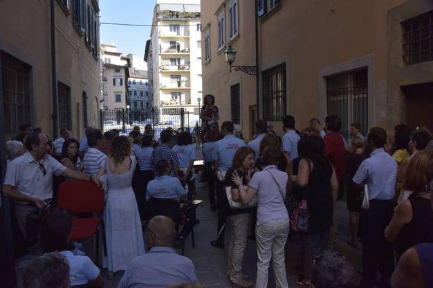 Livorno, i dipendenti comunali in assemblea (foto Novi)