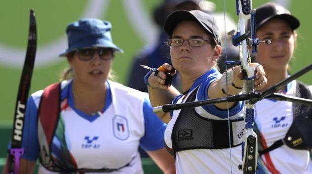 Le ragazze dell'arco alle Olimpiadi di Rio 2016 (Ansa)