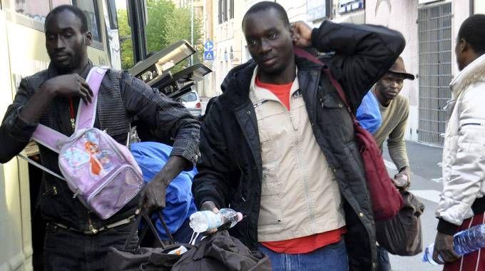 Alcuni dei migranti arrivati in Maremma nei mesi scorsi