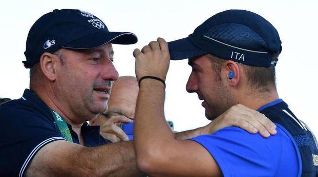 Bruno Rossetti festeggia l'oro olimpico del figlio Gabriele a Rio 2016