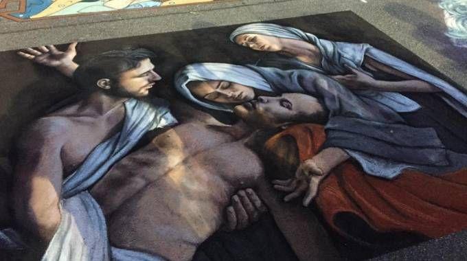 """""""Il compianto"""", opera di Mariangela Cappa, vincitrice 2016 alla fiera delle Grazie"""