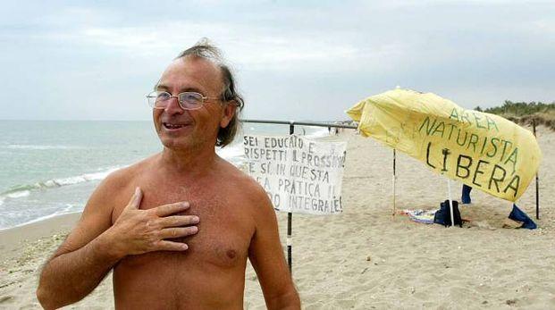Fidenzio Laghi, castrocarese di 69 anni noto esponente del naturismo (Zani)