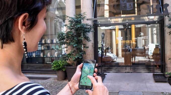 """Un momento di """"caccia"""" ai Pokemon"""