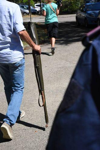Il fucile sequestrato