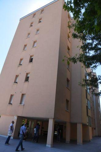 La palazzina di via Belgrado 1, a Carpi