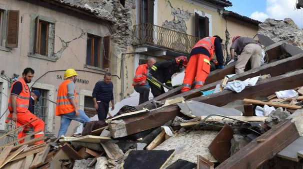 Terremoto, la devastazione ad Arquata del Tronto (Afp)
