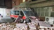 Terremoto, danni anche nel Fermano: crolli all'ospedale di Amandola (Foto Zeppilli)