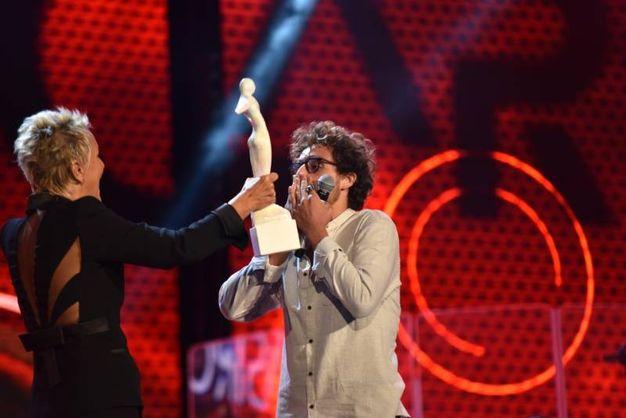La premiazione al Festival di Castrocaro (Foto Fantini)